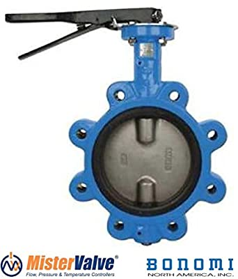 Bonomi N501S Lever operated butterfly valve EPDM seat, lug body St. Steel disc. by Bonomi