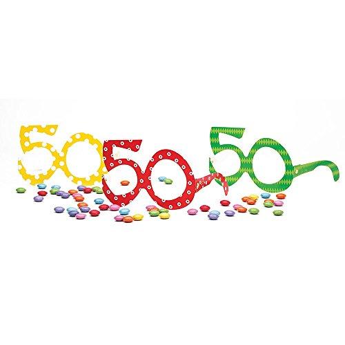 Givi Italia- Occhiali Carta Numero 50 Anni, Assortiti, 50118