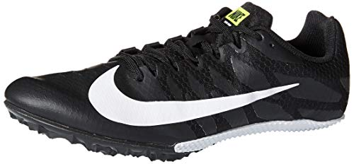 Nike Men's Zoom Rival MD 8 Track Spike Black/White/Volt 13.5 Women/12 Men