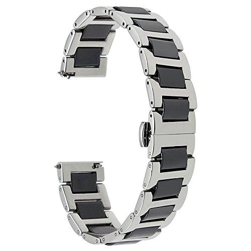 TRUMiRR 22mm Keramik Uhrenarmband Schnellspanner Armband kompatibel für Huawei Watch GT 2 (46 mm), Samsung Gear S3 Frontier Classic, Samsung Galaxy Watch 46mm/Galaxy Watch3 45mm,Huawei Watch GT