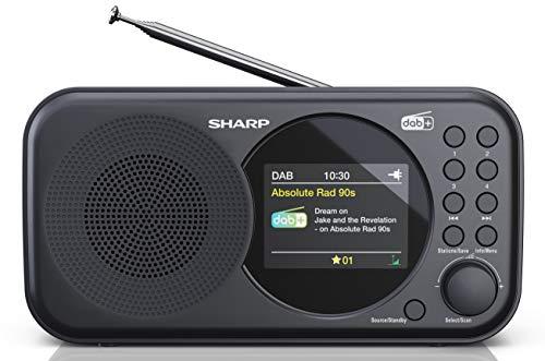 SHARP DR-P320 (BK) DAB+ Radio digitale, DAB/DAB +/FM con testo RDS, funzione sveglia/snooze, nero
