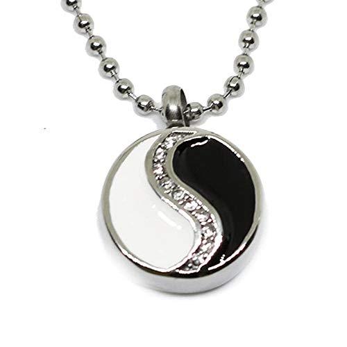 Joyas de cenizas Yin y yang piedra tai collar de acero inoxidable colgantes hombres y mujeres