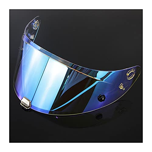 Tokyoo Moto para el Casco HJ-26 Visor de Casco para H-JC RPHA-11 y RPHA-70 Revo Night Vision Universal UV Anti-Glare Lens Motorbike Visor Visores de Motocicleta Escudo (Color : REVO Blue)