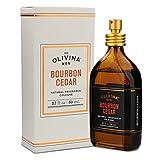 Olivina Men Natural Fragrance Cologne, 2.7 Fl. Oz, Bourbon Cedar