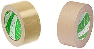 ニチバン 布テープ 50mm×25m巻 121-50 黄土 & ラミオフ再生紙クラフトテープ 50mm×50m巻 3105-50 黄土