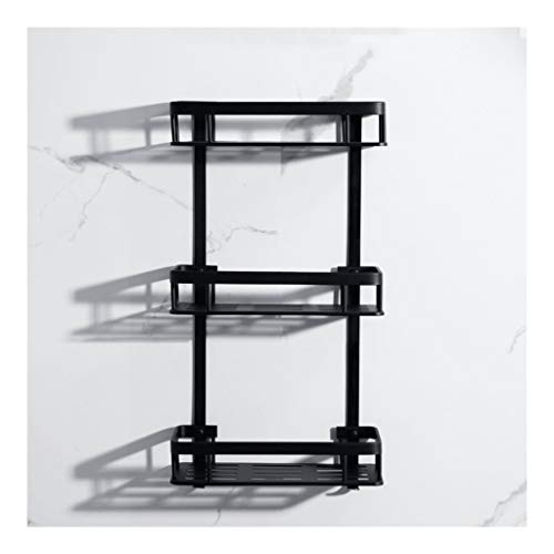 Affordable HUIZWJ Shower Caddies Bathroom Shelf Rack Bath Storage Holder Organizer Aluminum 2 Tier S...