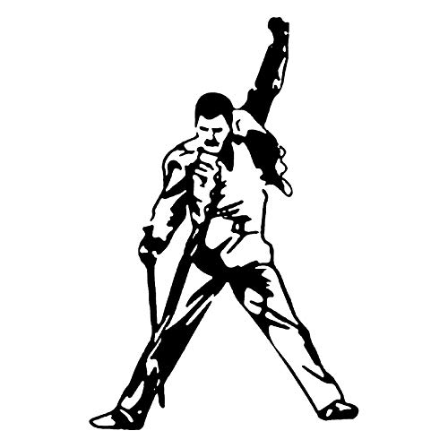 Platinum Place 1 adhesivo exterior de Freddie Mercury, de vinilo negro, parachoques,...