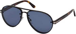 Tom Ford ALEXEI-02 FT 0622 SHINY RUTHENIUM/BLUE 62/14/145 unisex Sunglasses