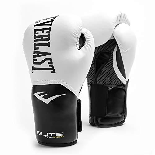 Everlast Elite Pro Style Training Gloves, White, 12 oz