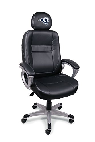 NFL Los Angeles Rams Leather Head Coach Office Chair