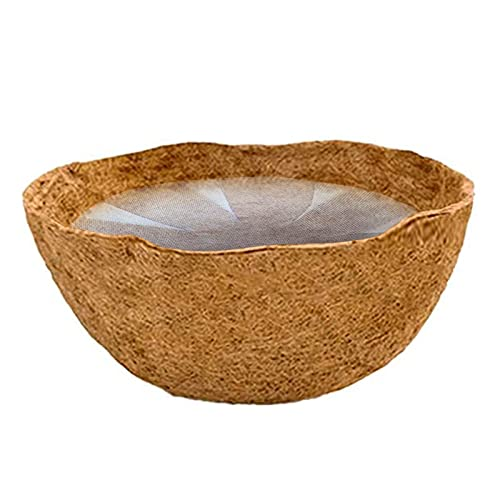 Chen0-super Fodera Coco per fioriere, Tappetini in Cocco per fioriere, Fodera semicircolare Coco con Fodera in Tessuto Non Tessuto, Fodera in Fibra di Cocco Coco per cesti appesi Fioriera a Parete