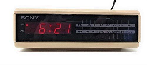 Sony Dream Machine Fm/am Digital Alarm Clock Radio Tan Vintage Retro Icf-c2w
