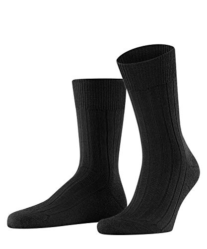 FALKE Herren Socken Teppich Im Schuh, Schurwolle, 1 Paar, Schwarz (Black 3000), 45-46 (UK 10-11 Ι US 11-12)
