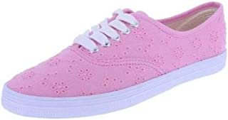 American Eagle AE Little Big Girls Eyelet Bal Fabric Sneakers Shoes