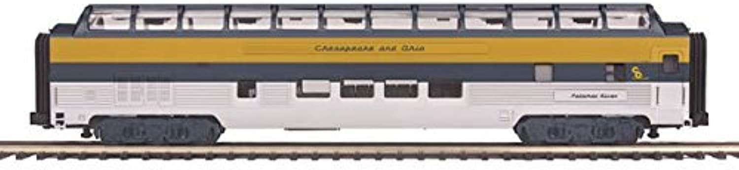 MTH 20-67226 O 70' Ribbed Full Vista Dome, C&O by MTH