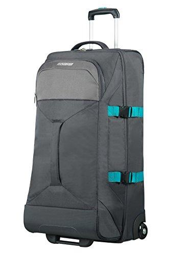AMERICAN TOURISTER Road Quest - 2 Compartments Wheeled Duffle L Bolsa de viaje, 80 cm, 88 liters, Gris (Grey/turquoise)