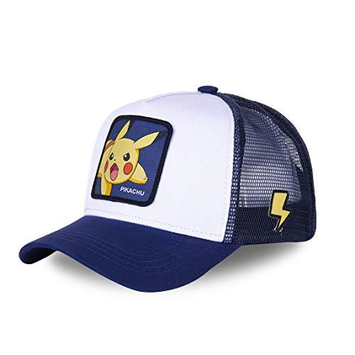 Capslab Pikachu Trucker Cap Pokemon White/Blue - One-Size