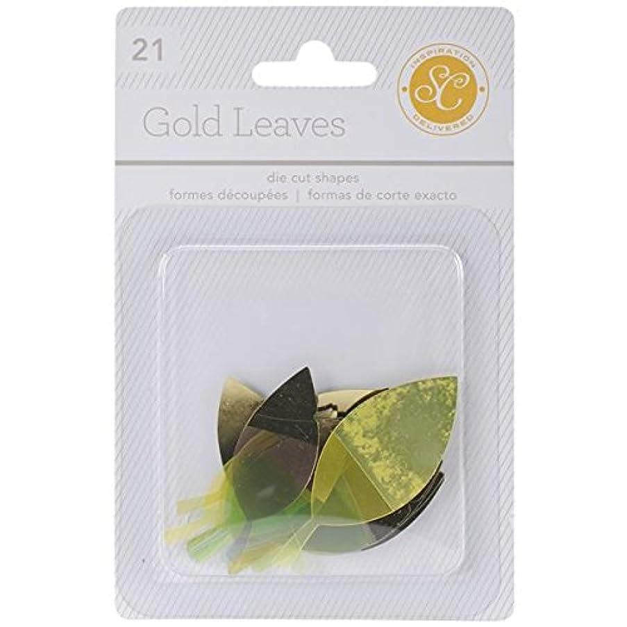 Studio Calico 21-Piece Lemon Lush Gold Dipped Die Cut Leaves