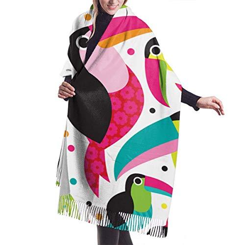 Tucan Birds ColorfulBlanket, tapiz, gran chal invierno grueso cálido bufanda abrigo chal...
