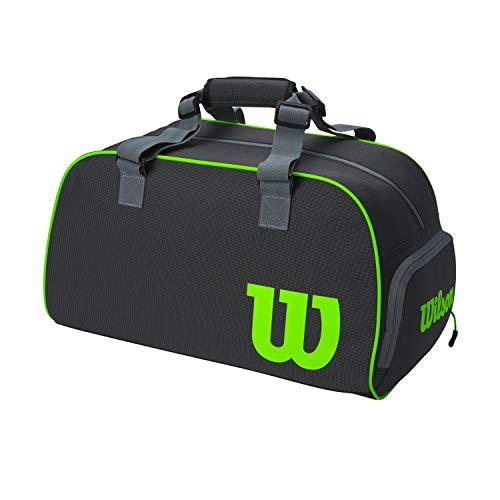 Wilson Super Tour, WR8005101001 Borsone da Tennis, Piccolo, Grigio/Verde
