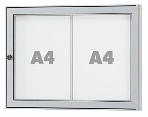 Außen-Schaukasten TESUS - wetterfester Schaukasten für den Außenbereich - div. Größen von 1 x DIN A4 bis 16 x DIN A4