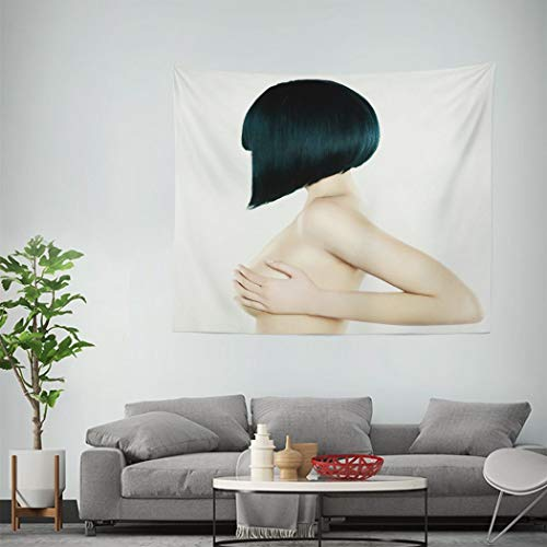 Trikptey Sexy Tapestry Elegant Nude Woman with Short Stylish Hairstyle Haircut Woman Tapestry Wall Hanging Wall Cloth Tapestry Carpet for Living Room Bedroom Home Dorm Decor 60'x80'