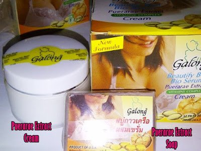 3 Boxes X 60g. Galong Pueraria Mirifica Bio Serum Bust Enlargement Firming Cream Natural Herbal Firming Cream Creme (Firm Cream Breast From a to F Cup) + 60g. Galong Pueraria Mirifica Bio Serum Soap Vitamin Complex