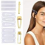 3 clips de silicona para el pelo con 30 piezas doradas, accesorios para el pelo, para hacer manualidades, fabricación