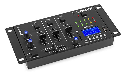 Vonyx Mezclador de 4 canales con puerto USB y ranura para tarjetas SD