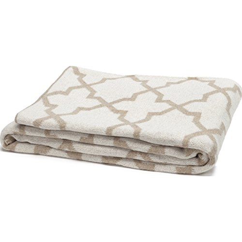 in2green Morocco Reversible Eco Throw - Flax/Milk