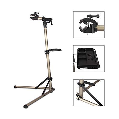 Fahrradständer Parkregal für Straßen- oder Mountainbikes - Reparaturständer für Fahrradgeschäfte mit Wartungsablage - Verstellbarer Werkstatt-Fahrrad-Rangierrahmen