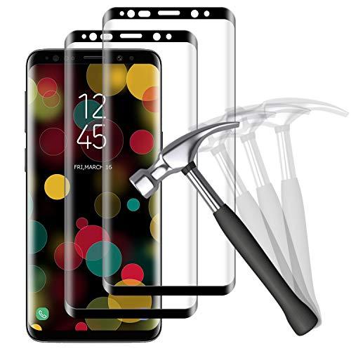 NUOCHENG Panzerglas Schutzfolie für Samsung Galaxy S9, [2 Stück] 3D Vollständige Abdeckung HD Panzerglasfolie, [Anti- Kratzer] [Bläschenfrei] [9H Härte] Displayschutzfolie für Galaxy S9