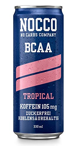 20 cans | NOCCO BCAA drink - tropical 330 ml - BCAA - 105 mg caffeine - energy drink - buxtrade