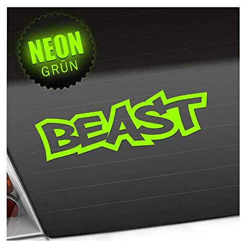 Kiwistar Beast 20 x 6 cm IN 15 Farben - Neon + Chrom! Sticker Aufkleber