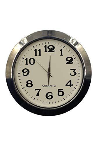 OKA CLOCK Einbau-Uhr Einsteckuhrwerk Einbauuhr Einsteckwerk ARABISCH Ø 55 mm Silber #30 (Silber)