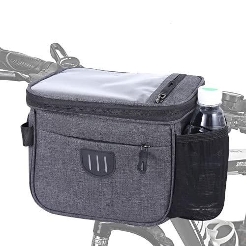 MANGANESE Lenkertasche,Lenkertasche Fahrrad,Fahrradtasche,Fahrrad Lenkertasche,6L Wasserdichter Fahrradkorb Tasche mit Touchscreen Vorne Fahrradtasche Lenkerkorb mit Schultergurt für alle Handy