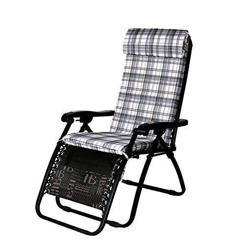 Cojín para silla de jardín, medio ambiente, con almohadilla para asiento y respaldo extraíble y lavable, almohadilla de esponja con correa fija, apto para todas las sillas reclinables 130*48*5cm, B