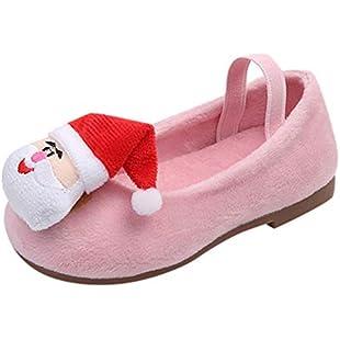 Girls Shoes, Xshuai Kids Baby Toddler Girls Christmas Santa Claus Princess Warm Shoes Sneakers Xmas Single Shoes (Pink, 3.5-4 Years Old)