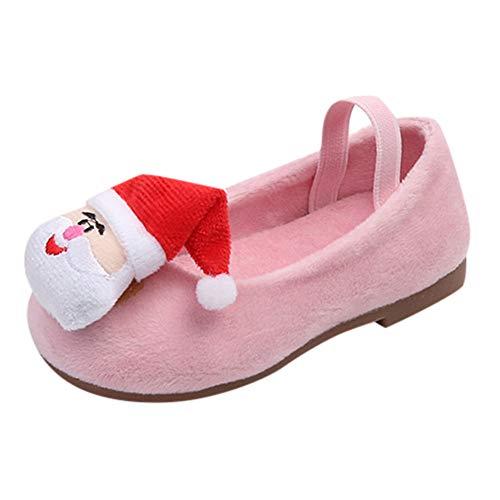 Babyschuhe UFODB Mädchen Baby Infant Toddler Weihnachten Weihnachtsmann Prinzessin Schuhe Flache Plus Samt Christmas Warm Shoes Sneakers Tanzschuhe
