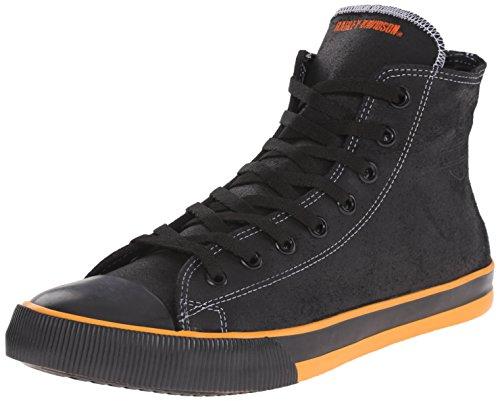 HARLEY-DAVIDSON FOOTWEAR Nathan Vulcanized Sneaker für Herren, Schwarz (schwarz/orange), 43 EU