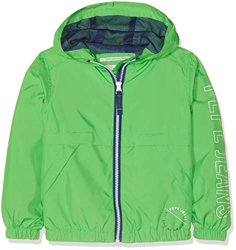 Pepe Jeans Axel Chaqueta, Verde (Bright Green 633), 6 años (Talla del Fabricante: 6) para Niños