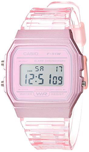 Casio Reloj Digital para Mujer de Cuarzo con Correa en Resina F-91WS-4EF
