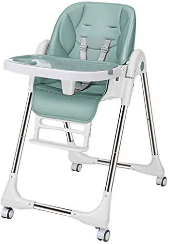 Silla alta, silla alta, silla alta y 5 posiciones diferentes de asientos ajustables - sillas altas con bandejas móviles,Blue