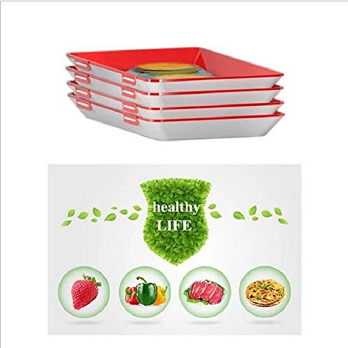 YWhuaSMGS Food Preservation Tray Reusable Plastic Food Fresh Storage Container Plate