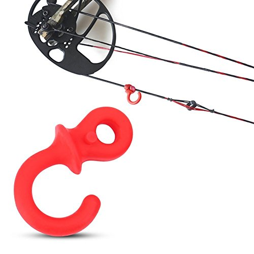 Bow String Silencer 4Pcs Durable Rubber Compound Bow Archery Bowstring Stabilizer Vibration Damper Shock Absorber (Red)