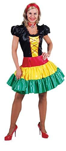 narrenkiste M209135-XS - Disfraz hngaro para mujer, multicolor, talla XS