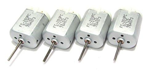 Surplus Deal USA 4 Pack - 20mm D Flat Shaft Central Door Lock Actuator Motor FC-280PC-22125, Long D Spindle, Power Locking Repair Engine