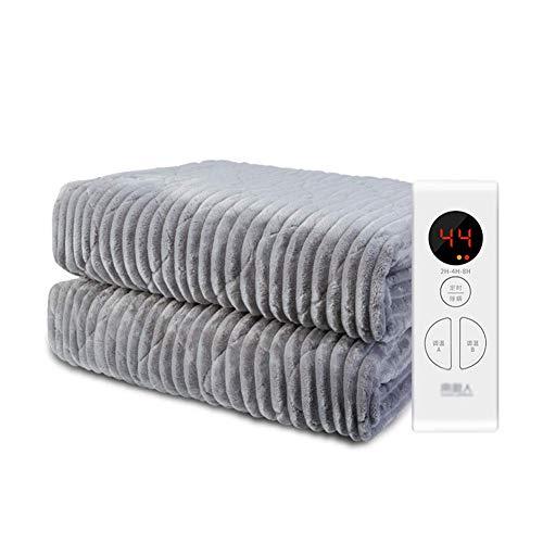 Calentador de colchón eléctrico rápido, almohadilla de colchón de calefacción eléctrica, manta calefactora, 4 niveles de temperatura, apagado automático, protección contra sobrecalentamiento200×180cm