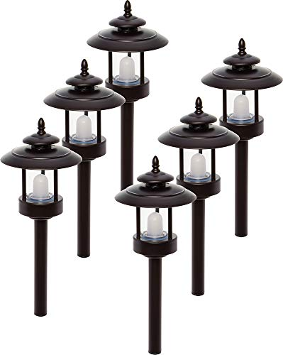 6 Pack Westinghouse 100 Lumen Low Voltage LED Pathway Light Landscape Lights (Bronze)