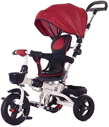 Poppenwagen kinderen trikes tricycle kindercyclus 1-5 jaar peuter-bike-peuterd-4-in-1 ouders push-driewieler voor kinderen met Canopy duwstang grow-met hoofd babyartikelen